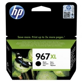 HP originální ink 3JA30AE, HP 963, black, 2000str., 48ml, high capacity, HP Officejet Pro 9010, 9012, 9014, 9015, 9016, 9019/P