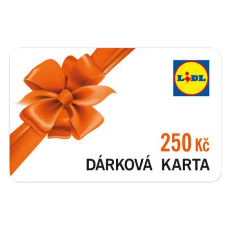Dárková karta Lidl v nominální hodnotě 250Kč