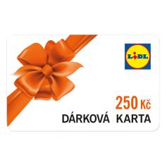 Dárková karta Lidl 250Kč