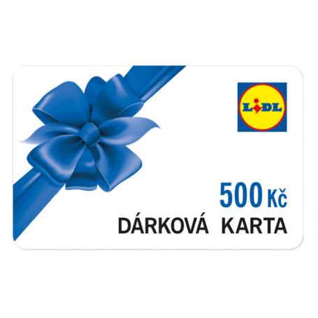 Dárková karta Lidl v nominální hodnotě 500Kč